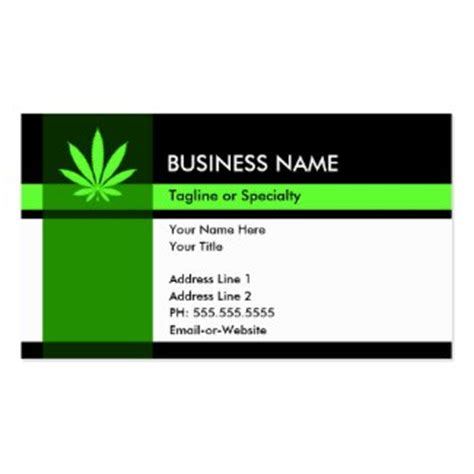 marijuana card template marijuana business cards cannabis business cards