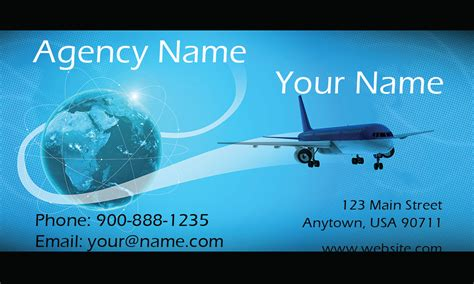 travel agency business card design template airplane and globe travel business card design 901051