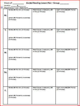 Small Group Lesson Plan Template Best 25 Guided Reading Lessons