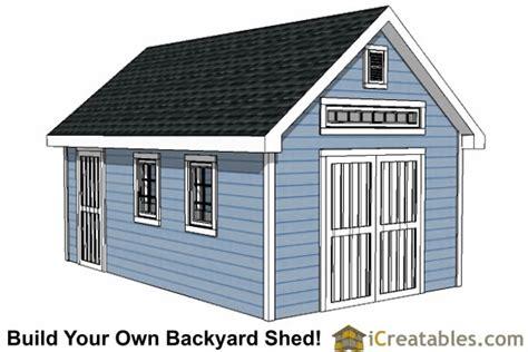 large shed plans   build  shed outdoor storage designs