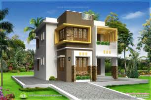 Indian House Plans For 1500 Square Feet Small Double Storied Contemporary House Design Kerala