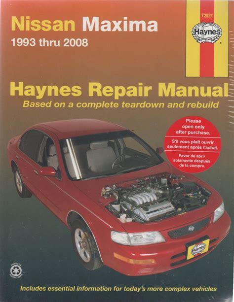 nissan maxima a32 a33 1993 2008 haynes service repair