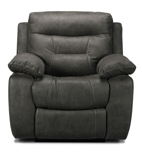 gray recliners collins power recliner charcoal grey leon s