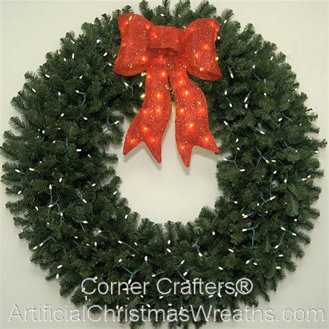 60 inch l e d lighted christmas wreath cornercrafters