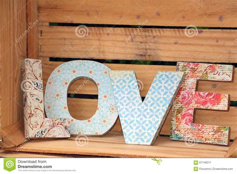 How To Decoupage Wooden Letters - written with wooden letters stock image image of