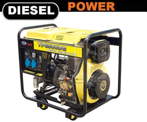 5kw diesel portable generator tp6500dg e top power