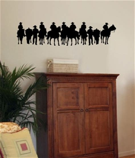 western wall stickers cowboy stand western wall decal sticker