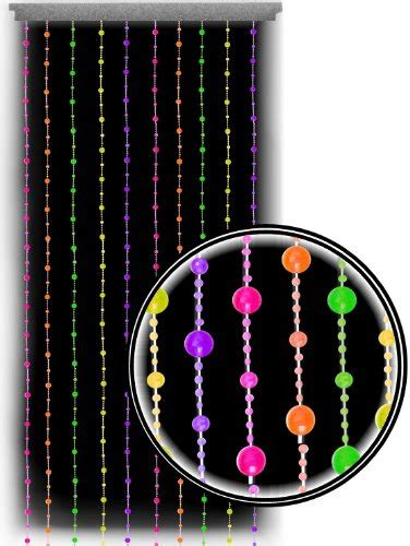 Hanging Beads Beaded Curtains Black Light Reactive Neon