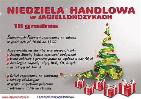 Niedziela Handlowa Czerwiec Niedziela Handlowa 18 Grudnia 2016 Jagiellończycy