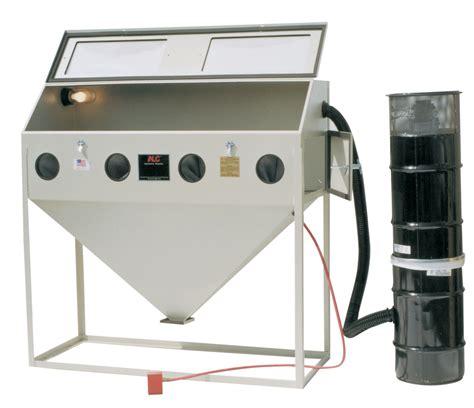 light blaster floor l 40413l 60 quot wide abrasive blast cabinet with led light kit