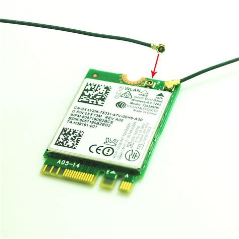 ipex mhf internal antenna laptop ngff  intel