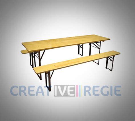 Table En Bois Pliante Et Banc by Table Pliante Et Bancs De Cantine Cr 233 Ative R 233 Gie