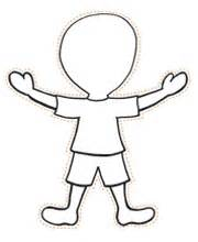 boy template best photos of and boy outline printable