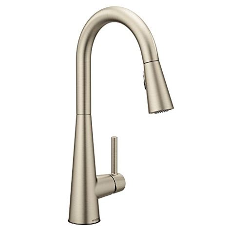 moen kitchen faucet brushed nickel moen brushed nickel pull faucet pull brushed