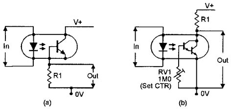 phototransistor base resistor optocoupler circuits nuts volts magazine for the electronics hobbyist