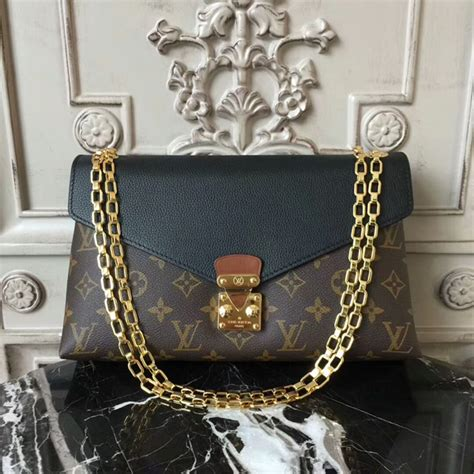 louis vuitton  pallas chain shoulder bag monogram canvas