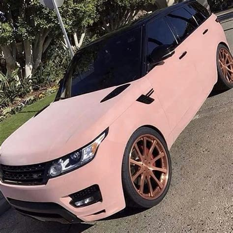 rose gold cars pink velvet range rover with rose gold wheels things i