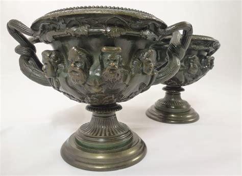 Warwick Vase by Pair Of Antique Bronze Warwick Vases 266790