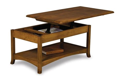 Open Top Coffee Table Amish Carlisle Open Lift Top Coffee Table With Counter Weight