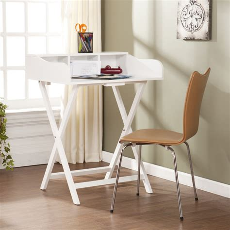 Folding Table Desk by Upton Home Marion White Folding Craft Student Desk Table