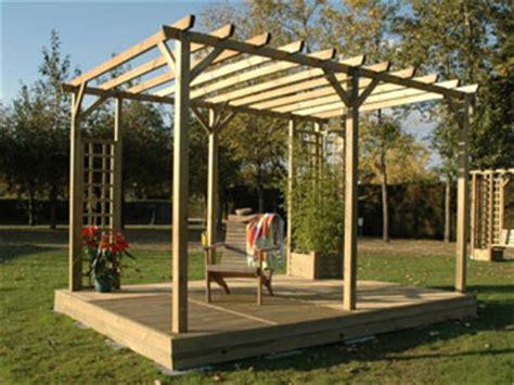 Construire Une Pergola En Bois 1551 by Pergolas Bois