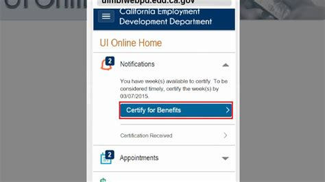 ui onlin ui mobile certify for continued benefits using ui