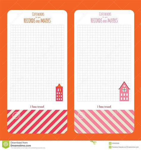 notebook design template template for school notebook diary and organizers stock