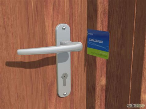 how to pop a bedroom door lock how to open a door with a credit card 8 steps with pictures