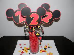 mickey mouse center pieces mickey mouse centerpiece set of 3 picks