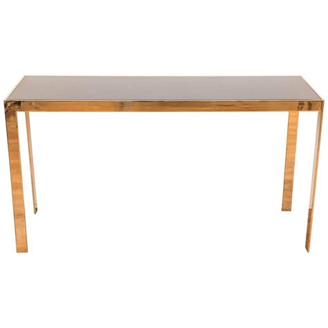 Parsons Console Table Vintage American Quot Brass Quot Parsons Style Console Table At 1stdibs