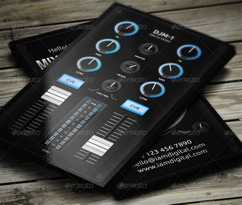 Digital Dj Business Card Template Free by Digital Dj Business Card By Vinyljunkie Graphicriver