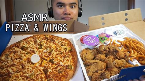 asmr sounds whisper pizza wings asmr pizza wings crunch