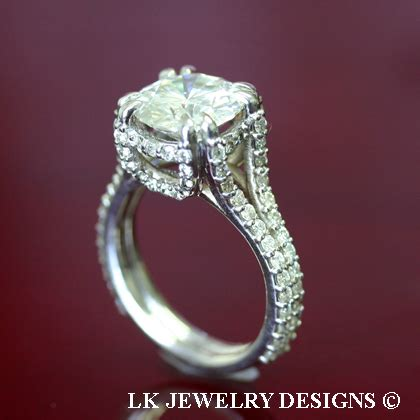 Moissanite 1 65 Ct 4 65 ct moissanite forever brilliant micro pave