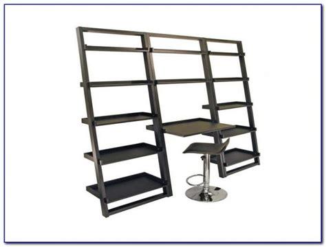 white linea leaning desk ladder shelf desk uk desk home design ideas