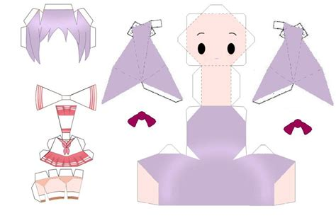 Paper Craft Templates Free - anime free paper crafts