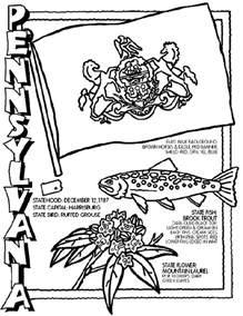 Pennsylvania Coloring Pages pennsylvania coloring page crayola