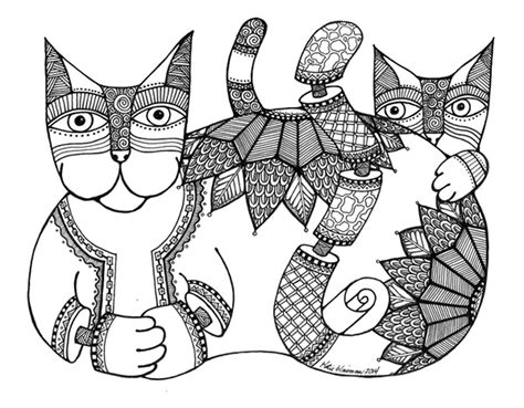 zen cat coloring page free coloring pages of destiny titan