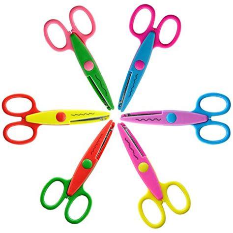 assorted decorative edge scissors auch 6 pack creative safety scissors paper decorative wave
