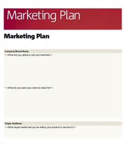 Free Marketing Templates For Word by Sle Marketing Plan Template 9 Free Documents In Word