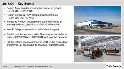 event design group europe ab thule group ab 2017 q4 results earnings call slides