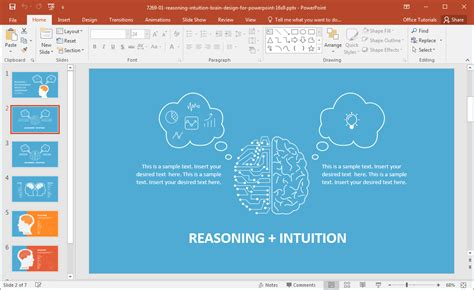 Left Brain Vs Right Brain Powerpoint Template Powerpoint Theme Vs Template