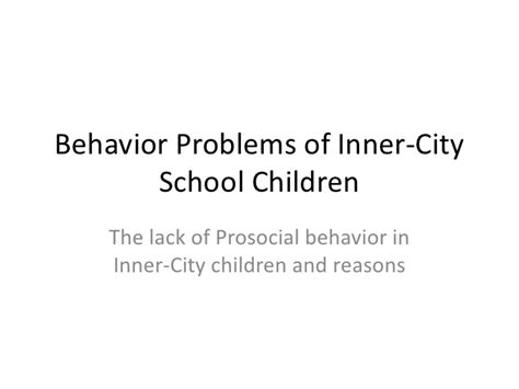 the child in america behavior problems and programs classic reprint books behavior problems of inner city school children