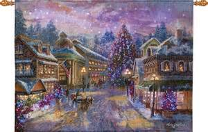 new christmas eve fiber optic wall hanging tapestry lit
