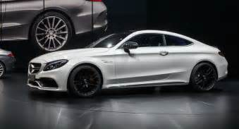 mercedes amg c63 coupe shows its chiseled in frankfurt