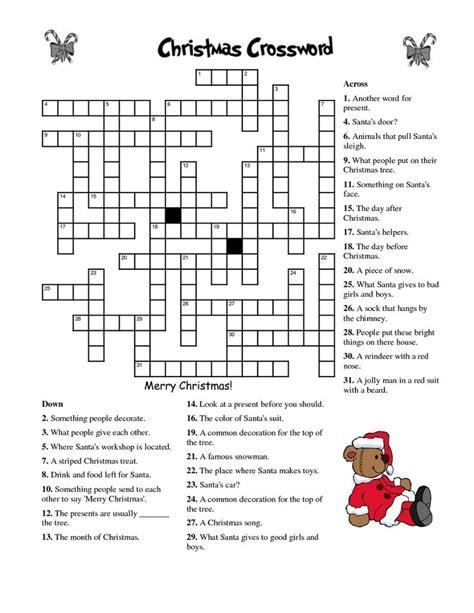 crosswords for kids christmas k5 worksheets christmas