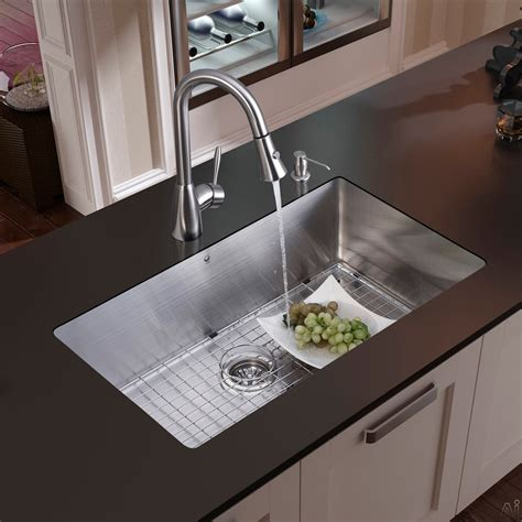 Kitchen Faucets Sale by Vigo Industries Vg15049 32 Inch Undermount Single Bowl