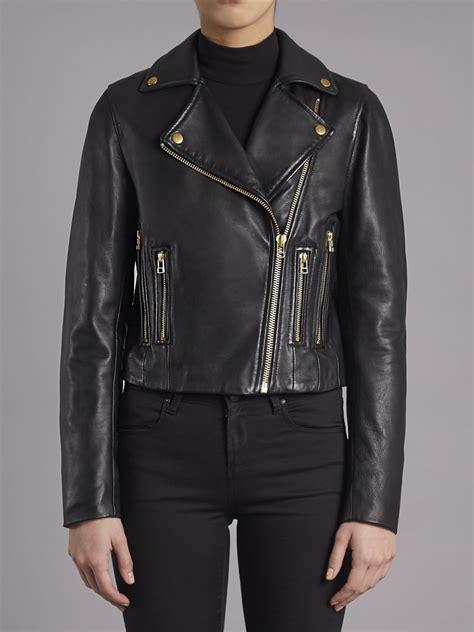 black leather biker jacket muubaa harrier black leather biker jacket