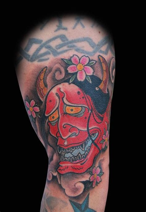 red hannya mask tattoo designs red hannya mask tattoo by adam lauricella tattoonow