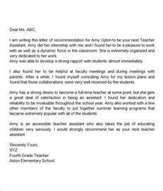 Reference Letter Format For Teachers Sle Letter Of Recommendation For 18