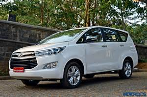 Toyota Innova 2016 New 2016 Toyota Innova Crysta Launched In India Top